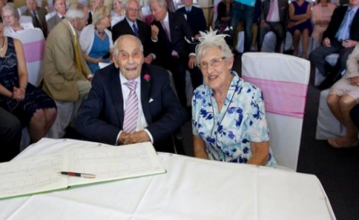 Love can make feel good event at the age of... 103 !
