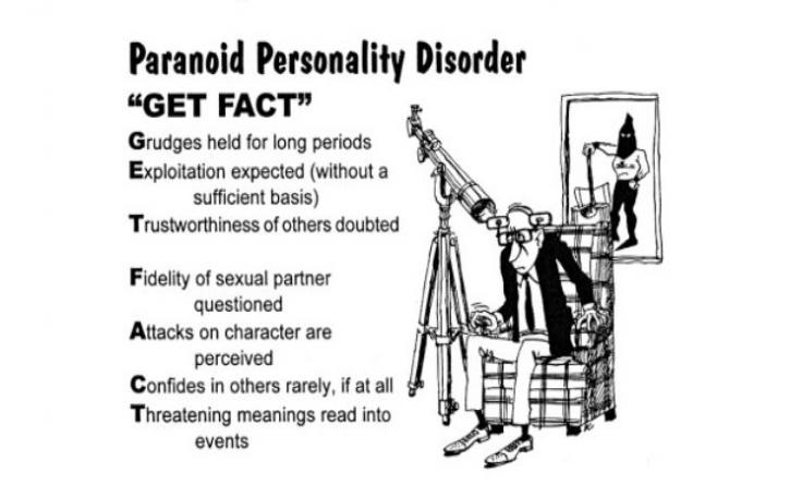 Sexual relationship with paranoid personality